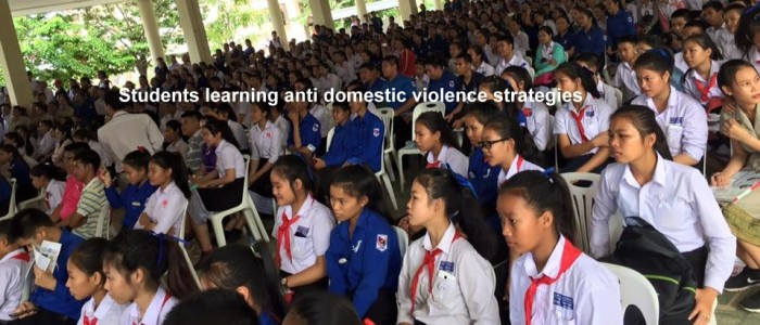 Students learn anti domestic violence strategies