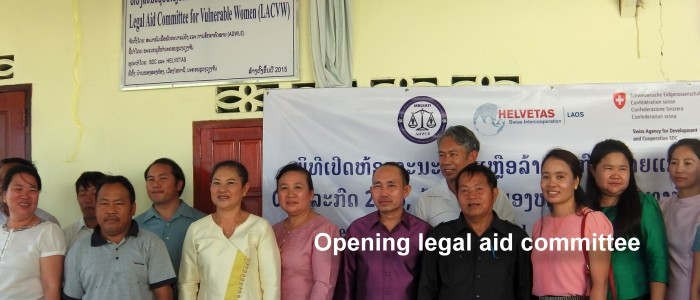 Opening legal aid committee