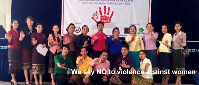 We say NO to domestic violence against women